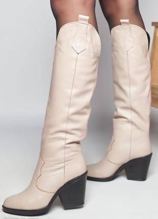 Акция казаки кожаные замшевые р36,37,39,40 сапоги высокие ботфорты козаки замшеві черевики ботфорти