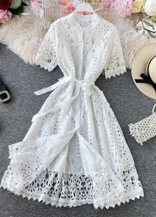 Платье хлопковое7 фото
