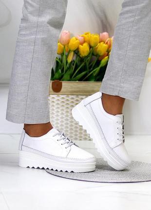 Кожаные кроссовки5 фото