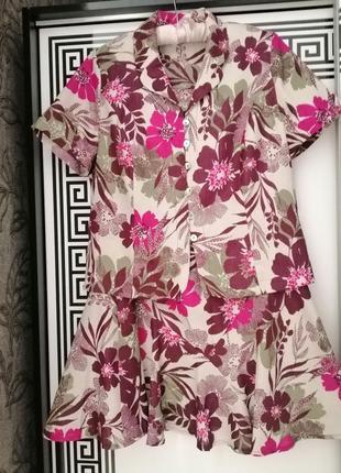 Костюм спідниця та блуза розмір виробника 12 💜👍💜