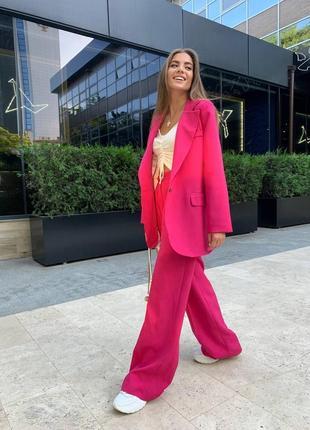 Костюм однобортный пиджак+брюки палаццо 628