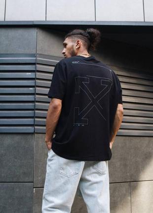 Футболка off-white oversize unfinished print cotton t-shirt