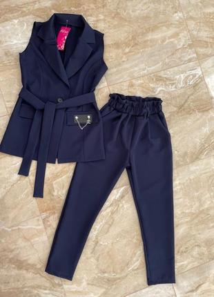 Школьный костюм жилет и брюки 128-164рр
