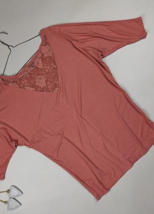 Блуза трикотажная красивая с кружевом bershka m5 фото