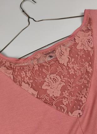 Блуза трикотажная красивая с кружевом bershka m6 фото