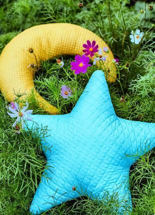 Детские декоративные подушки месяц звезда комплект