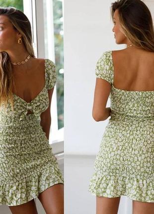 Шифоновое платье-резинка