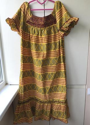 Яркое платье хлопок на пышную красотку hand made