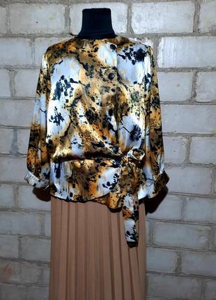 Блузон блуза винтаж ретро блуза на запах