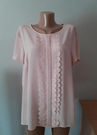 Нарядная нежно- персиковая блузка,батал