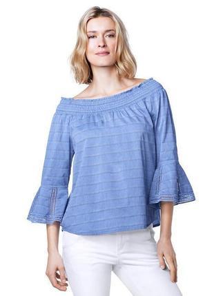 Хлопковая блуза с кружевом tcm tchibo