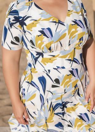 Элегантное летнее платье из лёгкой ткани 💕3 фото
