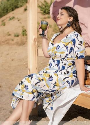 Элегантное летнее платье из лёгкой ткани 💕2 фото