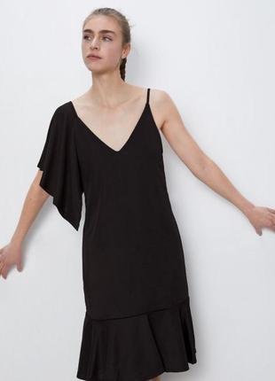 Ассиметричное платье с оборками3 фото