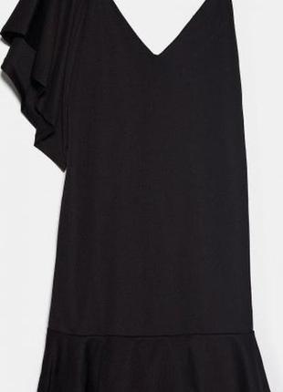 Ассиметричное платье с оборками6 фото