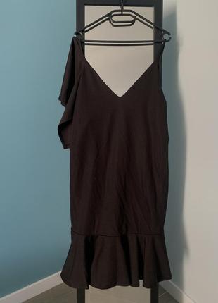 Ассиметричное платье с оборками2 фото