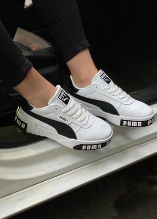 Женские черно-белые кроссовки puma cali жіночі чорно-білі кросівки