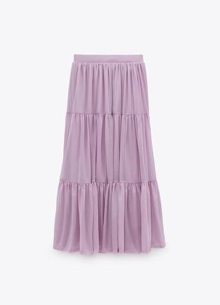 Zara‼️юбка шаровидная /размер l