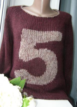 Grace стильный пуловер 68% альпака 10% мериносовая шерсть s-m размер