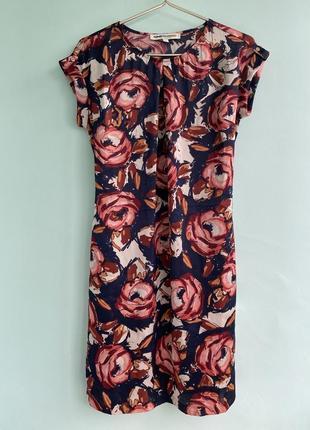 Платье атласное в цветочный принт clements ribeiro