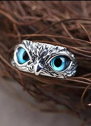 Кольцо перстень глаза сова 🦉