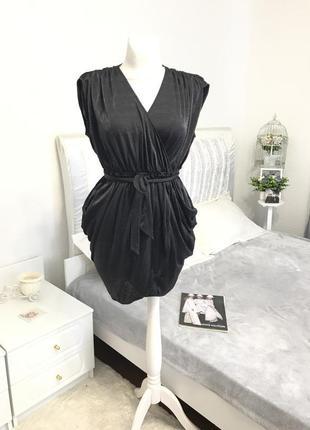 Платье с драпировкой armani exchange
