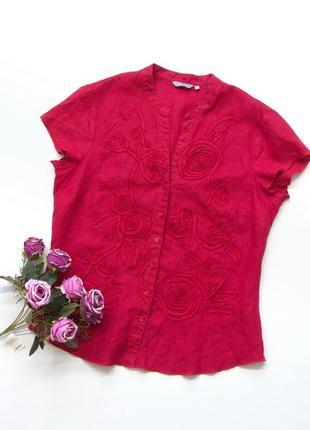 Льняная блузка, per una, лен