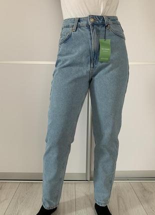 Голубі жіночі джинси mom, джинсы mom, новые светлые джинсы.