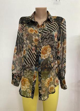 Блузка в цветочный принт от zara1 фото