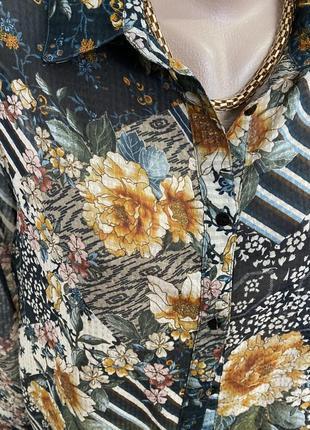 Блузка в цветочный принт от zara3 фото