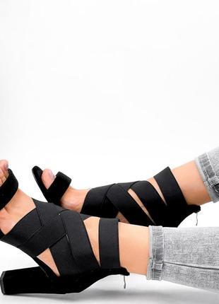Босоножки женские hanis черные  код: 40706 фото