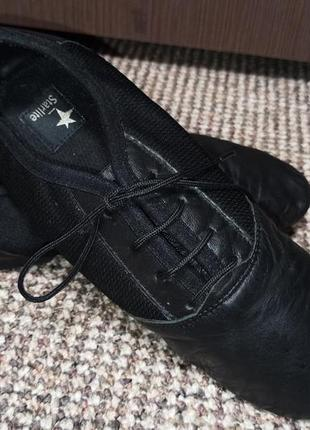 Танцевальные туфли джазовки starlite кожа. размер 34