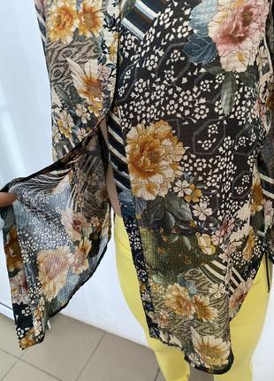 Блузка в цветочный принт от zara4 фото