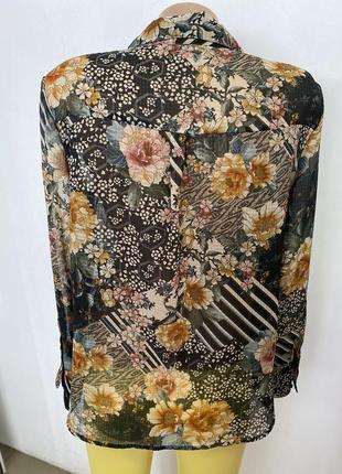 Блузка в цветочный принт от zara5 фото