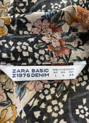 Блузка в цветочный принт от zara6 фото