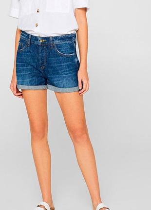 Классные джинсовые шорты с высокой посадкой esprit.4 фото