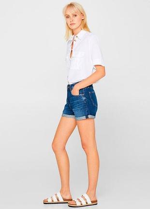 Классные джинсовые шорты с высокой посадкой esprit.5 фото