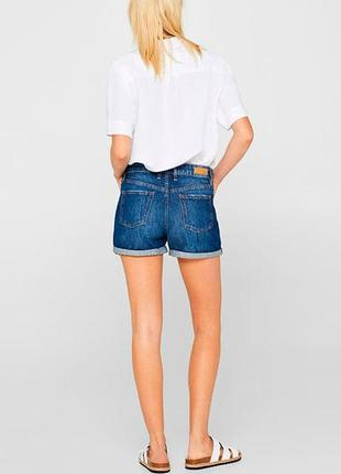 Классные джинсовые шорты с высокой посадкой esprit.6 фото