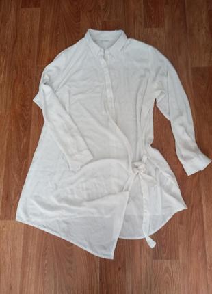 Удлененная рубашка блузка