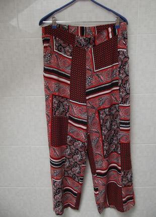 """Трендовые летние широкие брюки """"палаццо"""" на пышные формы (16 размер)7 фото"""