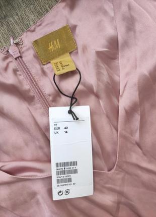 Платье легкое атлас h&m пог 48, пот 41, длина 1552 фото