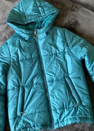 Куртка дута, куртка голуба, трендова куртка жіноча, легенька куртка.