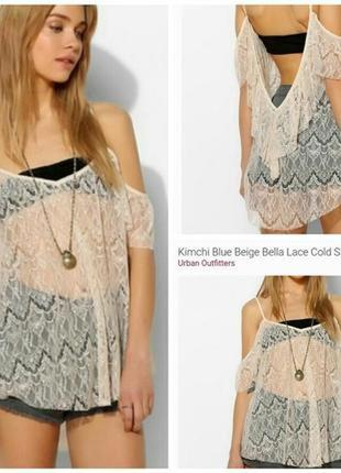 Туника- блуза, пляжная. бренда kimchi blue ( usa) размер s-m