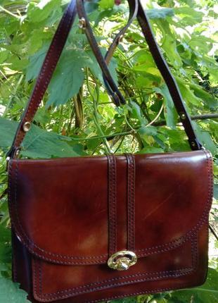 Кожаная эксклюзивная сумка