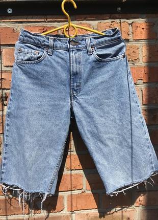 Трендовые фирменные удлинённые джинсовые спорты с высокой посадкой винтажные