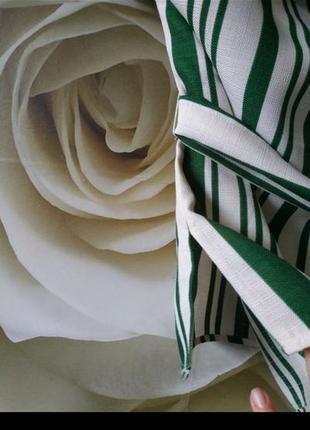 Красивая блуза с поясом в полоску6 фото