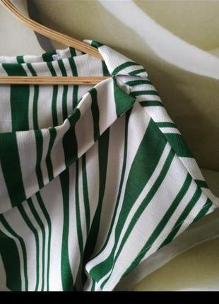 Красивая блуза с поясом в полоску9 фото