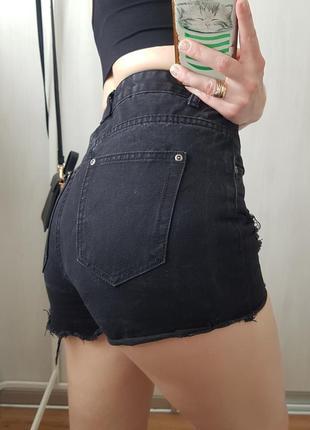 Знижка останній день 🔥тренд сезону🔥круті джинсові шорти на високій посадці з рванностями boohho9 фото