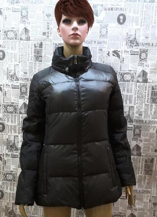 Супертёплая ультрамодная куртка- пуховик geox, италия, uk 8, s, наш 42