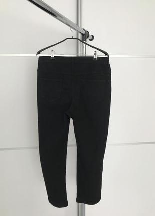 Черные штаны, черные брюки, черные джинсы, straight leg 18 bonmarche.3 фото
